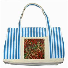 Color Mix Striped Blue Tote Bag