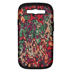 Color Mix Samsung Galaxy S Iii Hardshell Case (pc+silicone) by LalyLauraFLM