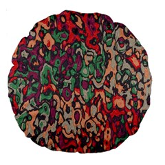 Color Mix 18  Premium Round Cushion  by LalyLauraFLM