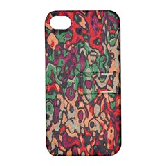 Color Mix Apple Iphone 4/4s Hardshell Case With Stand