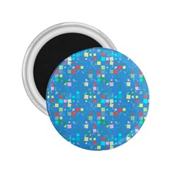 Colorful Squares Pattern 2 25  Magnet