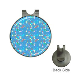 Colorful Squares Pattern Golf Ball Marker Hat Clip