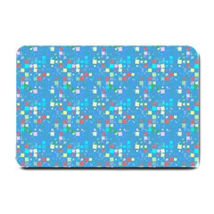 Colorful Squares Pattern Small Doormat