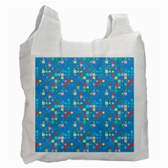 Colorful Squares Pattern Recycle Bag (one Side)
