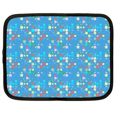 Colorful Squares Pattern Netbook Case (xxl)