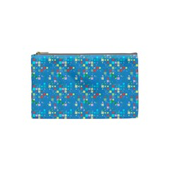 Colorful Squares Pattern Cosmetic Bag (small)
