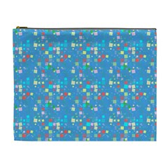Colorful Squares Pattern Cosmetic Bag (xl)
