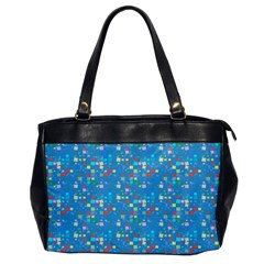 Colorful Squares Pattern Oversize Office Handbag (one Side)