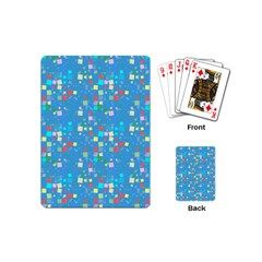 Colorful Squares Pattern Playing Cards (mini) by LalyLauraFLM
