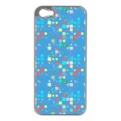 Colorful Squares Pattern Apple Iphone 5 Case (silver)