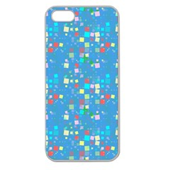 Colorful Squares Pattern Apple Seamless Iphone 5 Case (clear)