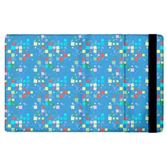 Colorful Squares Pattern Apple Ipad 2 Flip Case by LalyLauraFLM