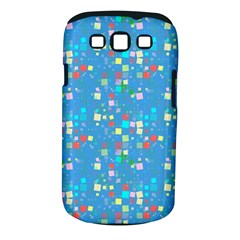 Colorful Squares Pattern Samsung Galaxy S Iii Classic Hardshell Case (pc+silicone) by LalyLauraFLM