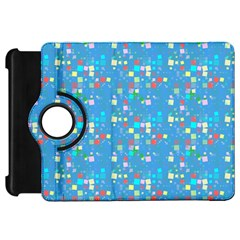 Colorful Squares Pattern Kindle Fire Hd Flip 360 Case by LalyLauraFLM