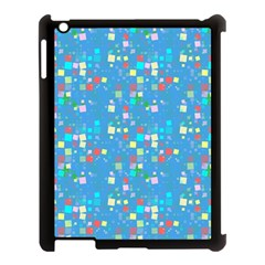 Colorful Squares Pattern Apple Ipad 3/4 Case (black) by LalyLauraFLM