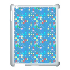 Colorful Squares Pattern Apple Ipad 3/4 Case (white) by LalyLauraFLM