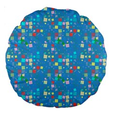 Colorful Squares Pattern 18  Premium Round Cushion  by LalyLauraFLM
