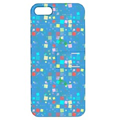 Colorful Squares Pattern Apple Iphone 5 Hardshell Case With Stand by LalyLauraFLM