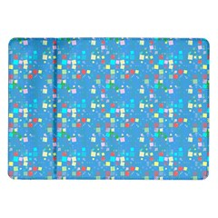 Colorful Squares Pattern Samsung Galaxy Tab 10 1  P7500 Flip Case by LalyLauraFLM