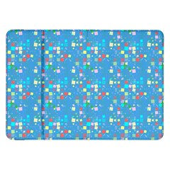 Colorful Squares Pattern Samsung Galaxy Tab 8 9  P7300 Flip Case by LalyLauraFLM