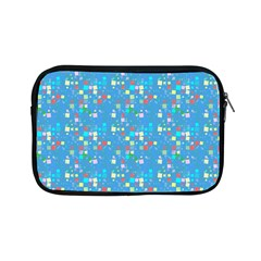 Colorful Squares Pattern Apple Ipad Mini Zipper Case by LalyLauraFLM