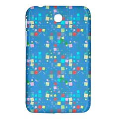 Colorful Squares Pattern Samsung Galaxy Tab 3 (7 ) P3200 Hardshell Case  by LalyLauraFLM
