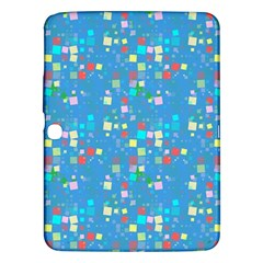 Colorful Squares Pattern Samsung Galaxy Tab 3 (10 1 ) P5200 Hardshell Case