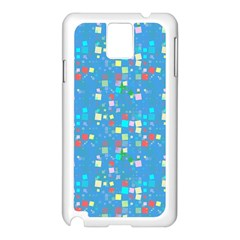 Colorful Squares Pattern Samsung Galaxy Note 3 N9005 Case (white) by LalyLauraFLM