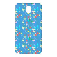Colorful Squares Pattern Samsung Galaxy Note 3 N9005 Hardshell Back Case by LalyLauraFLM