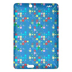 Colorful Squares Pattern Kindle Fire Hd (2013) Hardshell Case by LalyLauraFLM