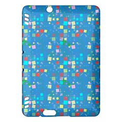 Colorful Squares Pattern Kindle Fire Hdx Hardshell Case by LalyLauraFLM