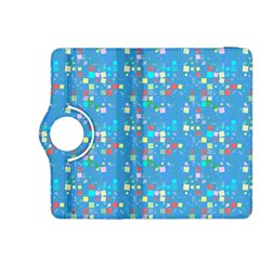 Colorful Squares Pattern Kindle Fire Hdx 8 9  Flip 360 Case by LalyLauraFLM