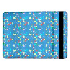 Colorful Squares Pattern Samsung Galaxy Tab Pro 12 2  Flip Case by LalyLauraFLM