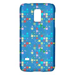 Colorful Squares Pattern Samsung Galaxy S5 Mini Hardshell Case  by LalyLauraFLM
