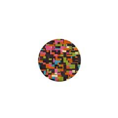 Colorful Pixels 1  Mini Magnet by LalyLauraFLM