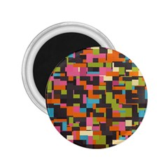 Colorful Pixels 2 25  Magnet