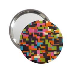 Colorful Pixels 2 25  Handbag Mirror