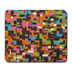 Colorful Pixels Large Mousepad by LalyLauraFLM