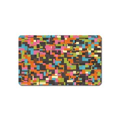 Colorful Pixels Magnet (name Card)