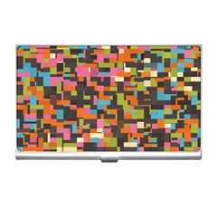 Colorful Pixels Business Card Holder