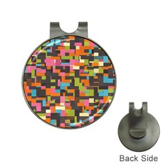 Colorful Pixels Golf Ball Marker Hat Clip by LalyLauraFLM