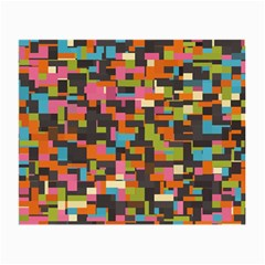 Colorful Pixels Glasses Cloth (small, Two Sides) by LalyLauraFLM