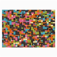 Colorful Pixels Glasses Cloth (large, Two Sides)