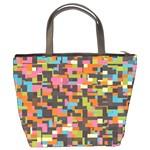 Colorful pixels Bucket Bag Back