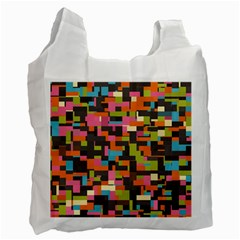 Colorful Pixels Recycle Bag (one Side) by LalyLauraFLM