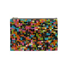 Colorful Pixels Cosmetic Bag (medium)