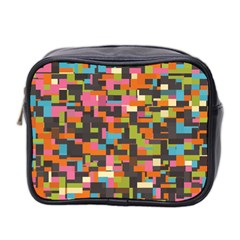 Colorful Pixels Mini Toiletries Bag (two Sides) by LalyLauraFLM