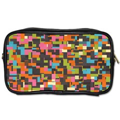 Colorful Pixels Toiletries Bag (two Sides) by LalyLauraFLM