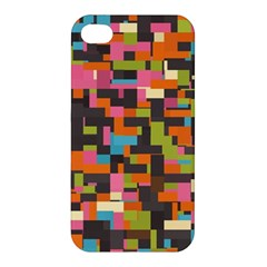 Colorful Pixels Apple Iphone 4/4s Hardshell Case by LalyLauraFLM