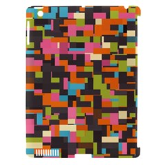 Colorful Pixels Apple Ipad 3/4 Hardshell Case (compatible With Smart Cover)
